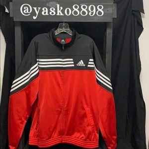 Men's Adidas polyester full zip jacket
